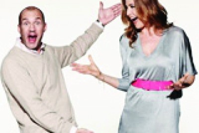 Johnny Vaughan and Lisa Snowdon