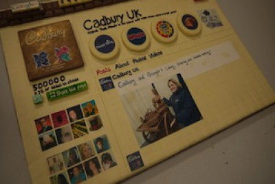 Cadbury Google Plus Cake