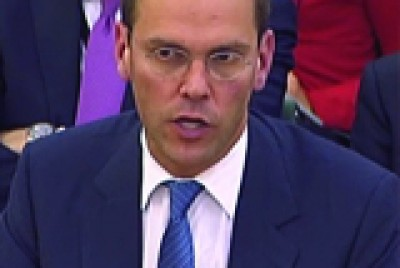 James Murdoch talks at DCMS