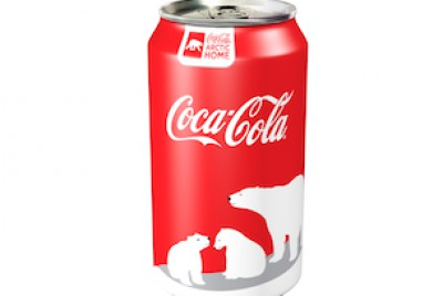 Coca-Cola polar bear can