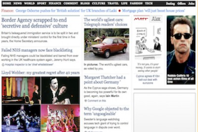 Telegraph website