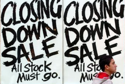 Retail stores closing down