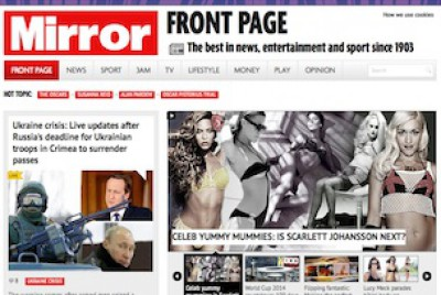 The Mirror website